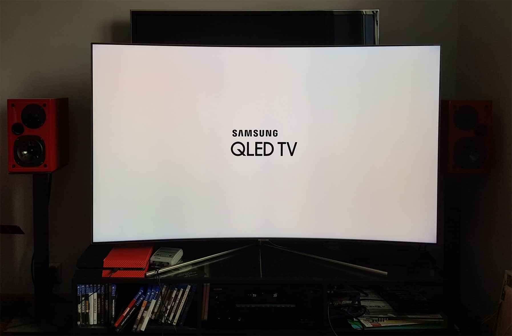 pierwsze uruchomienie Samsung QLED Q7C